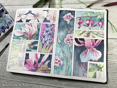 Floral Sketching — Botanische Skizzen - auf Triviar