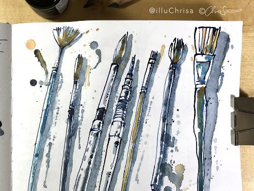 Urban Sketching — Das Material - auf Triviar
