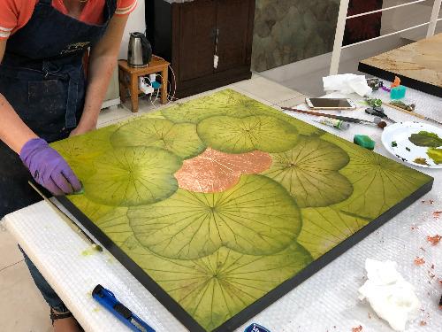Workshop für Lotusblatt-Malerei - auf Triviar