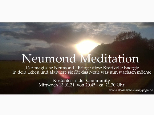 Neumond Meditation & Ritual - auf Triviar