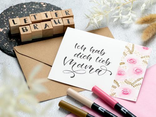 Nie wieder Karten kaufen – Muttertag Special (Handlettering) - auf Triviar