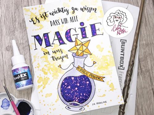 » Magische Tränke « Watercolor & Lettering - auf Triviar