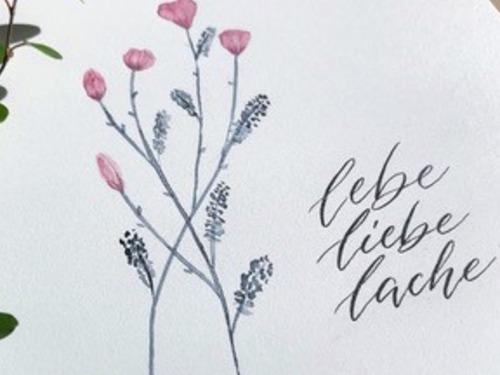 Moderne Kalligraphie - auf Triviar