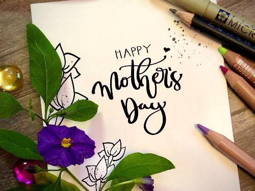 Muttertag Greeting Cards mit Zentanglemustern - auf Triviar