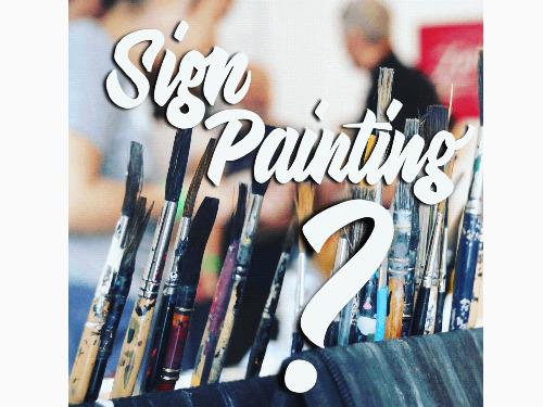 Sign Painting Vortrag mit Q&A - auf Triviar